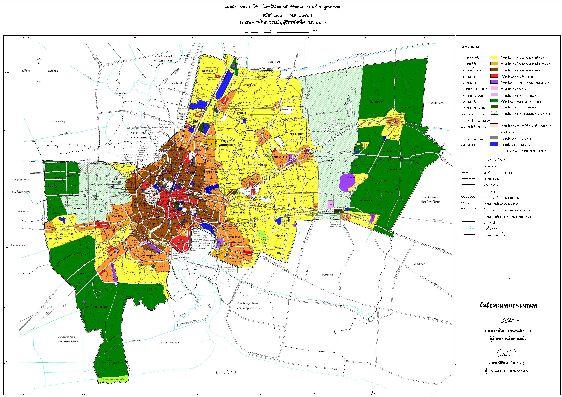 Если вы владеете языком, возможно, вас заинтересует схема городской планировки