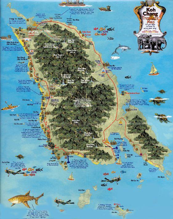 Карта достопримечательностей Ко Чанга