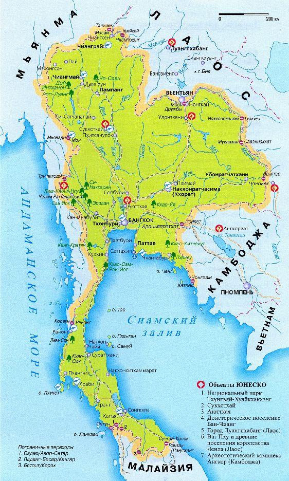 Пхукет на карте Тайланда