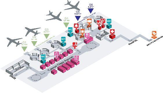 Детальная схема аэропорта острова Самуи