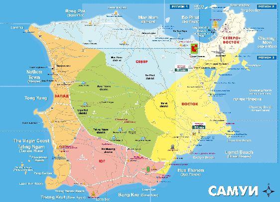 Карта с достопримечательностями, отелями, ресторанами