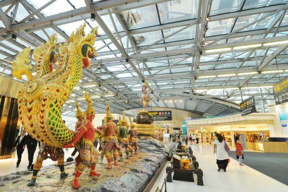 Вот как выглядит интерьер аэропорта в Бангкоке